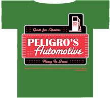 Peligro's Automotive T-shirt